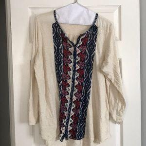 Tops - Lucky brand long sleeve shirt!